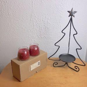 Longaberger 🎄Wrought Iron Xmas Tree Candle Holder